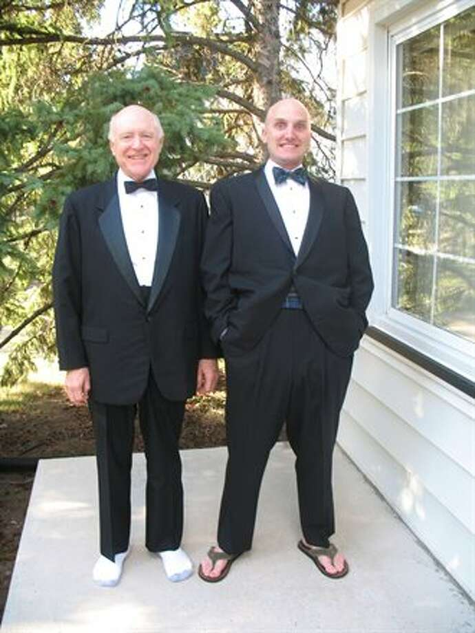 Some fathers and sons like to wear tuxes. Photo: Bjmacinnis
