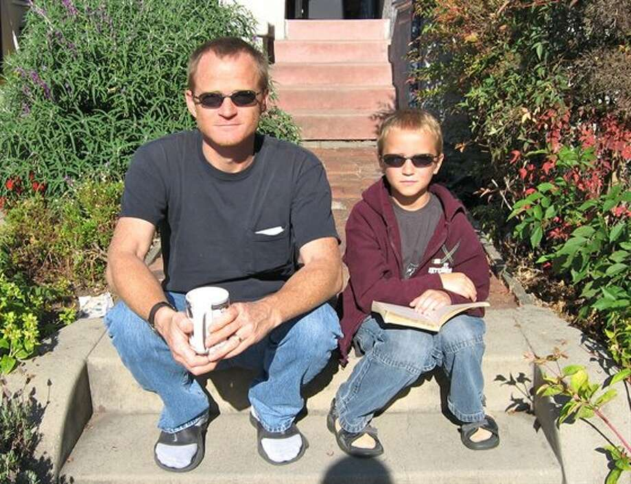 This father and son like to wear cool glasses. Photo: Cerberus