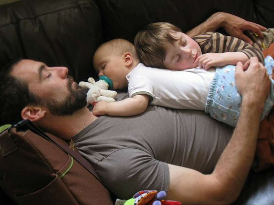 All dads enjoy napping with their sons. Photo: Lledbetter