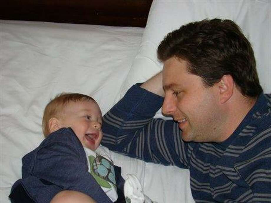 Some dads get giggles from their sons. Photo: Country128