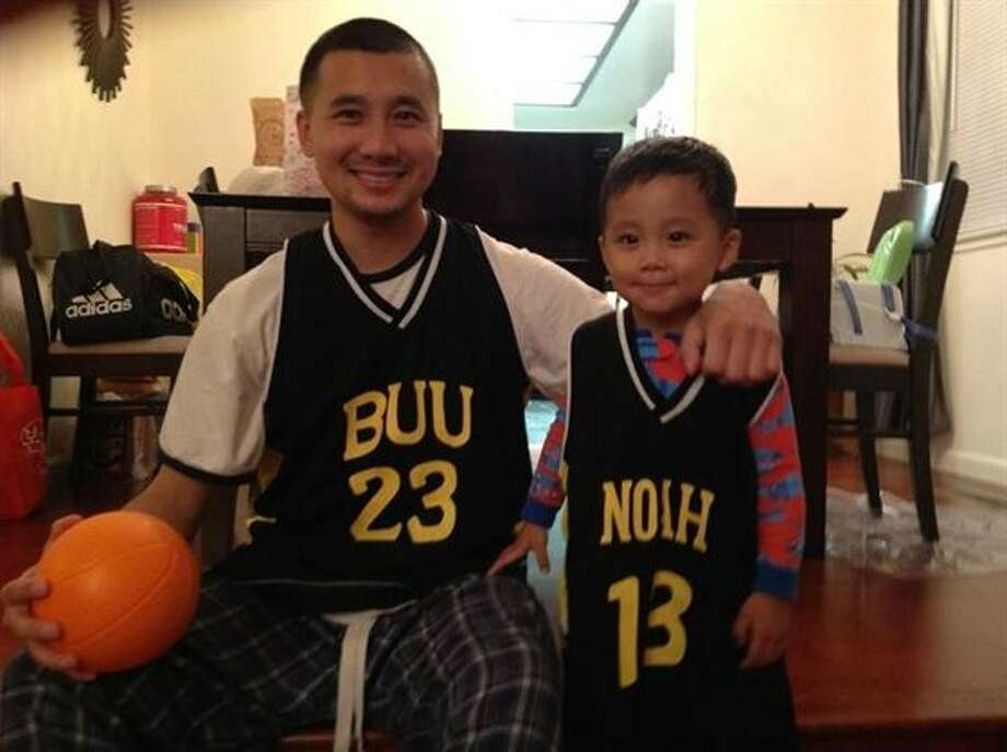 Some fathers and sons shoot hoops together. Photo: Appljax5270