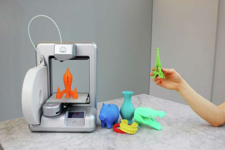 The Cube 3-D printer hits select Staples stores later this month and is available at staples.com and cubify.com. Photo: Courtesy Photo