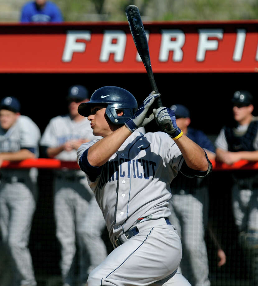 Greenwich's LJ Mazzilli was drafted by the Mets with the 116th pick in the Major League Baseball Draft Friday. Mazzilli, who just finished his senior season at UConn, batted .354 with six home runs, 51 RBI and 50 runs while stealing 29 of 33 bases. Photo: Christian Abraham / Connecticut Post