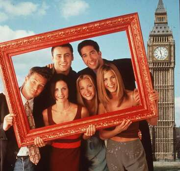 """""""Friends"""" - We spent from 1994-2004 with Monica, Phoebe, Rachel, Rachel, Chandler, and Joey. Could this show BE any funnier? Photo: NBC, Getty Images / Getty Images North America"""