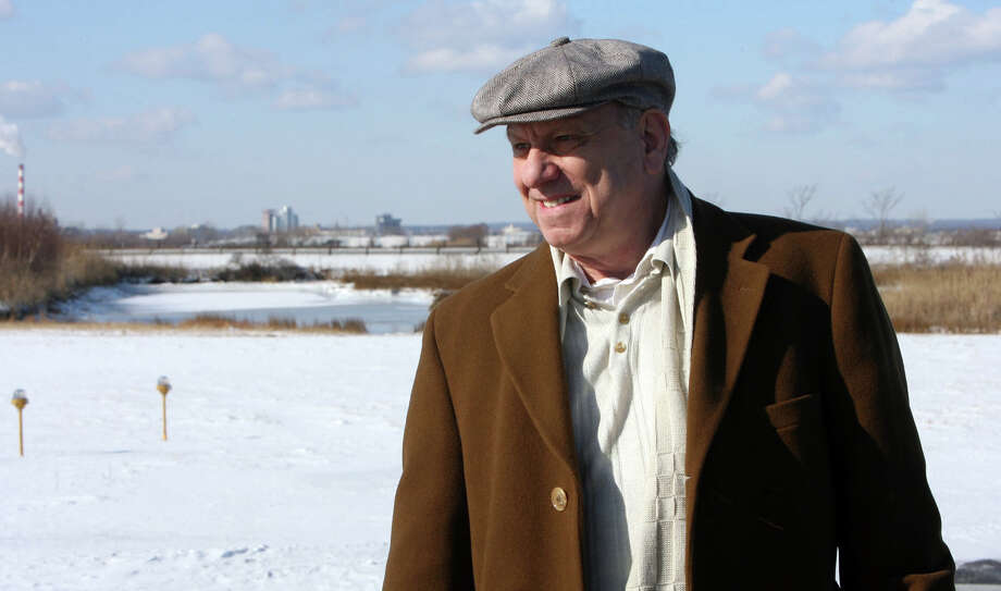 John Ricci,  Sikorsky Memorial Airport manager, shows areas around the airport and the water where birds gather, especially in the spring and fall, Jan. 16th, 2009. Photo: B.K. Angeletti / Connecticut Post