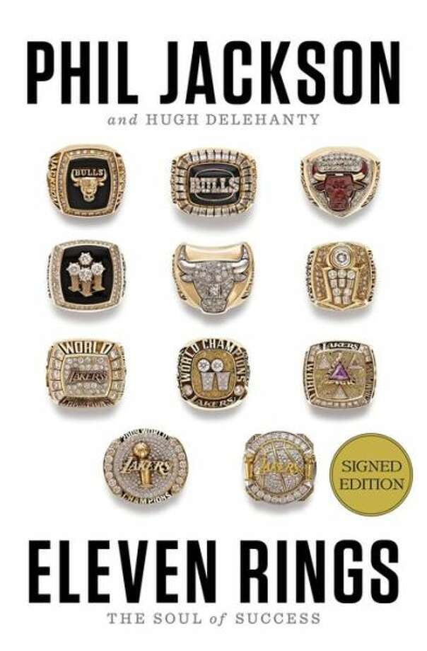 """BOOK JACKET - """"Eleven Rings"""" by Phil Jackson with Hugh Delehanty / handout"""