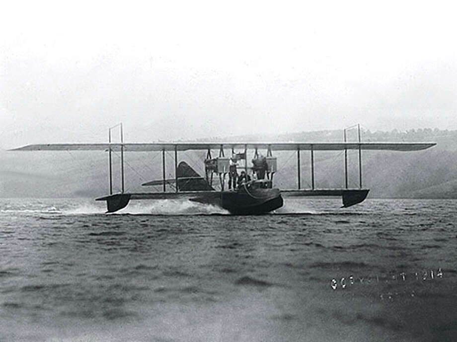 Curtiss followed up with the Model H in 1914. This is an H-4. Photo: Canadian Forces, Wikimedia Commons