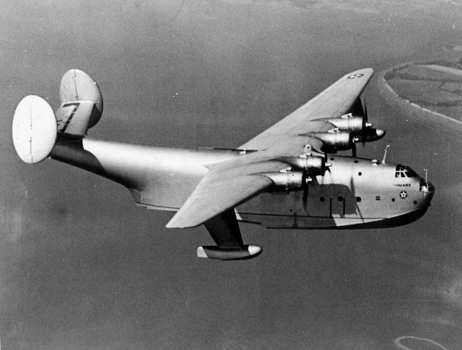 The U.S. Navy Martin XPB2M-1 Mars first flew as a patrol bomber prototype July 3, 1942 and was converted to a transport in December 1943. It was named Old Lady and finally beached at Alameda, Calif., in mid-1945, before being scrapped. Photo: U.S. Navy