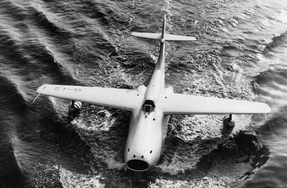 The Saunders Roe A1 was an experimental jet-powered flying boat fighter that first flew in 1947. But, similarly to the Princess, it lost out to aircraft based on land and aircraft carriers. Photo: Edward Miller, Getty Images / Hulton Archive