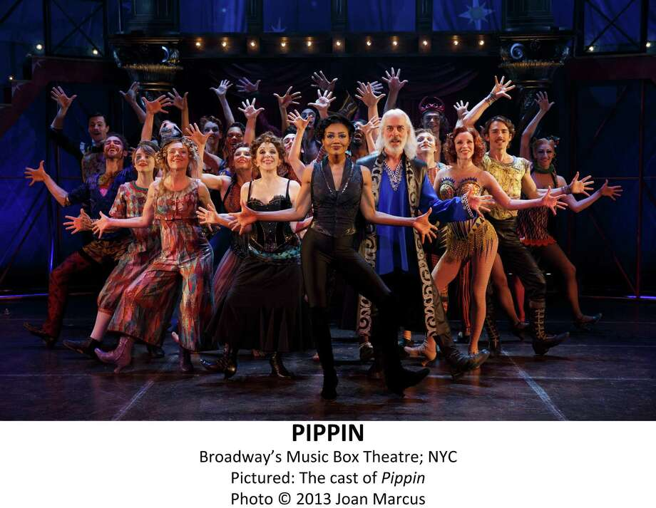 """Human dynamo Patina Miller as Leading Player, center, flanked by Andrea Martin and Terrence Mann, heads the extraordinarily versatile cast in director Diane Paulus'  cirque-infused re-invention of the '70s hit """"Pippin."""" Photo: Â2012 Joan Marcus / ©2013, Joan Marcus"""