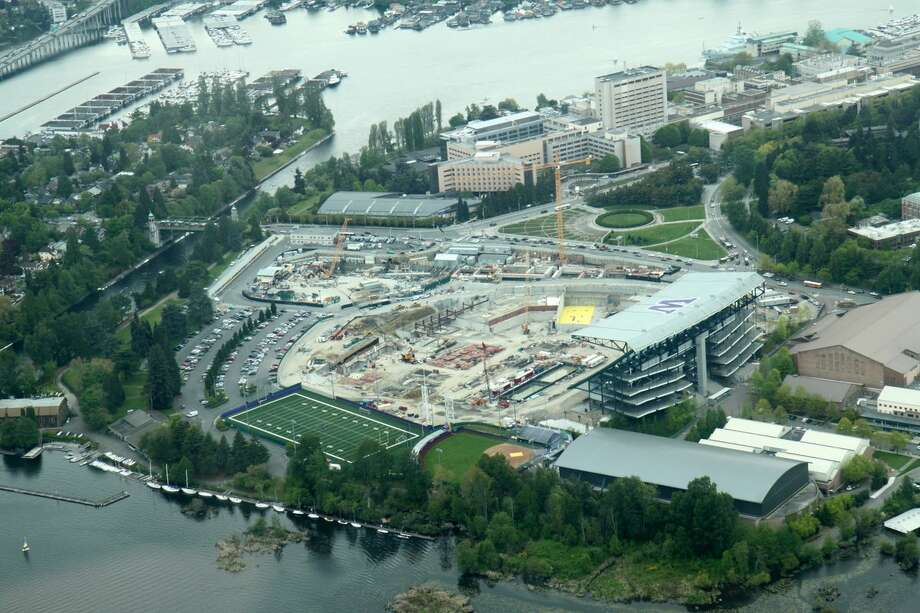 Husky Stadium as seen from the air on May 8, 2012. Photo: Picasa