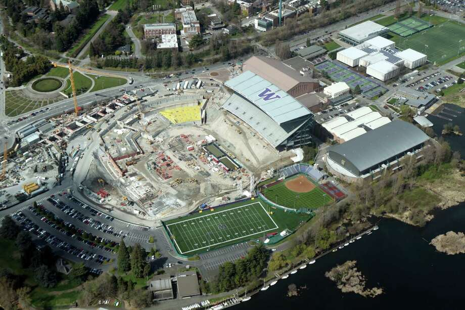 Husky Stadium as seen from the air on April 6, 2012. Photo: Picasa