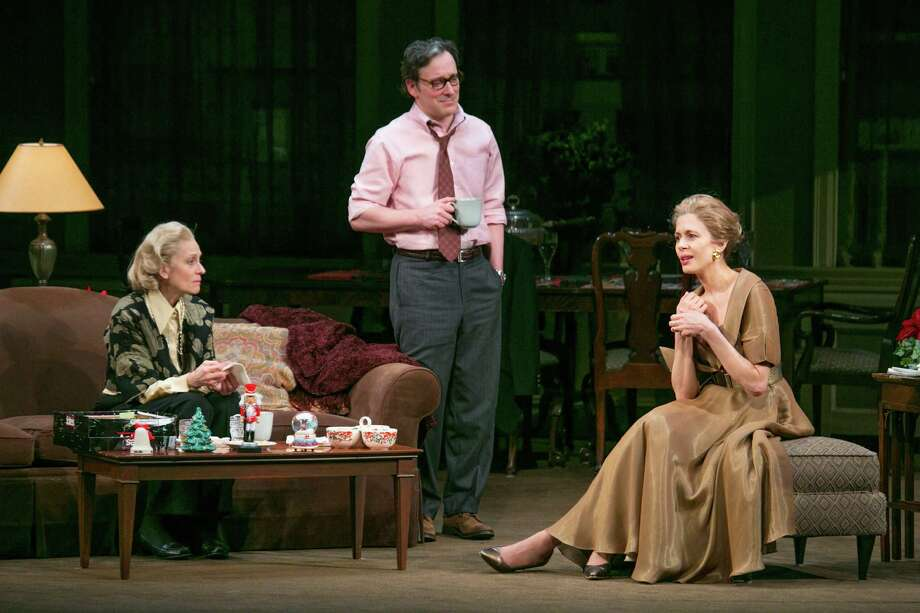 "FILE -- From left: Judith Light, Jeremy Shamos and Jessica Hecht in ""The Assembled Parties,"" at the Samuel J. Friedman Theatre in New York, March 27, 2013. The production received three nominations for the 67th annual Tony Awards, including best play. (Sara Krulwich/The New York Times) Photo: SARA KRULWICH, STF / NYTNS"