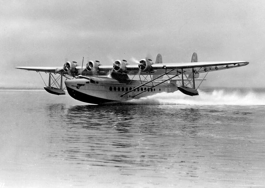"The name ""Clipper"" is confusing because Pan American applied it to several companies' airliners. Here, a Pan Am Sikorsky S-42 Clipper takes off in the 1930s. Photo: U.S. Navy"