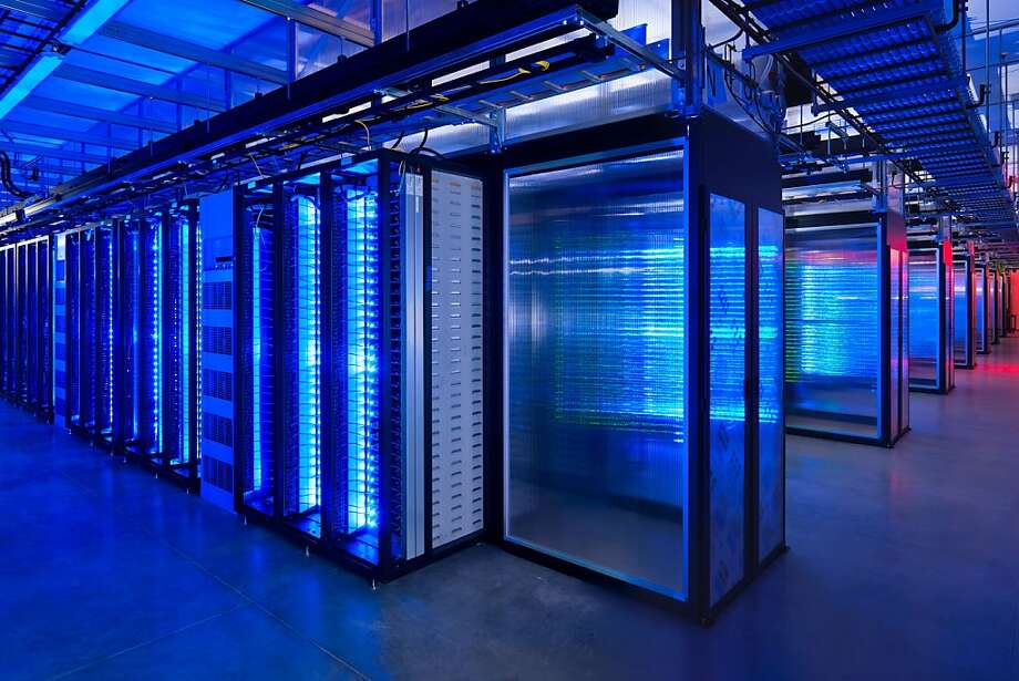 The server room at Facebook's Prineville, Ore., data center contains information sought by governments. Photo: Alan Brandt, Associated Press