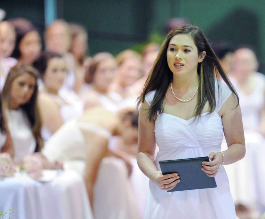 Sarah Margaret Ahstrom receives her diploma during the Convent of the Sacred Heart Commencement at the school in Greenwich, Friday afternoon, June7, 2013. Eighty-two students graduated. Photo: Bob Luckey / Greenwich Time