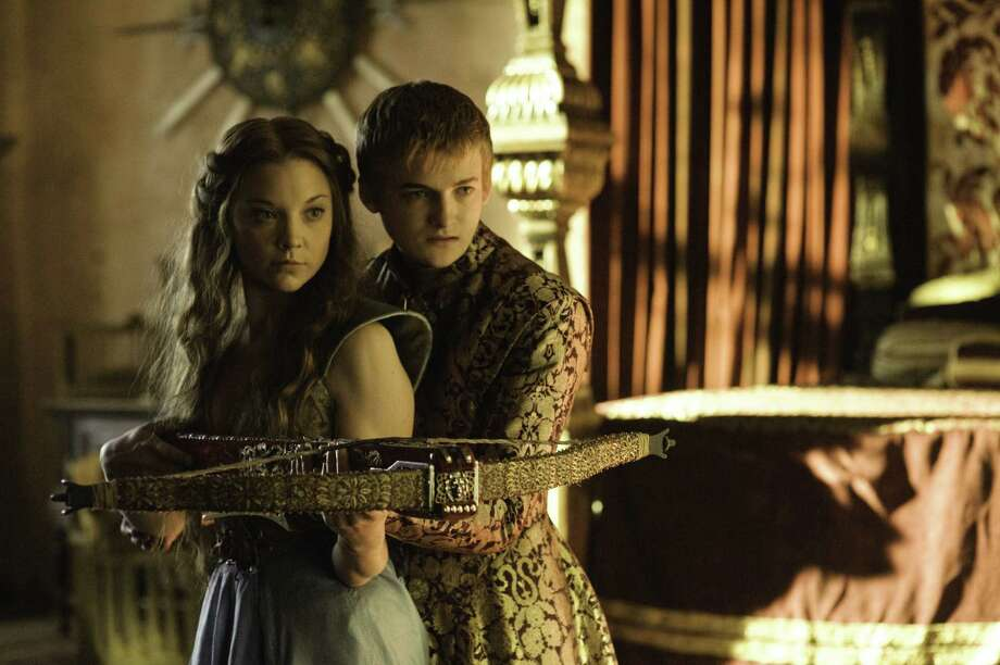 "Sadistic King Joffrey, played by Jack Gleeson, seems softened somewhat by the charms of his new future bride, Margaery Tyrell, portrayed by Natalie Dormer, on ""Game of Thrones."" Photo: HBO"