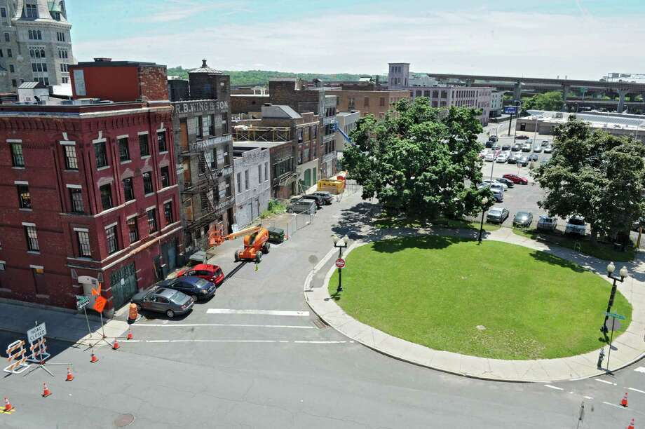 CDPHP is eyeing to build on this land where the city of Albany proposed to build the Albany Convention Center on Wednesday, June 5, 2013 in Albany, N.Y. CDPHP is also looking into rehabbing their current location.(Lori Van Buren / Times Union) Photo: Lori Van Buren / 00022708A