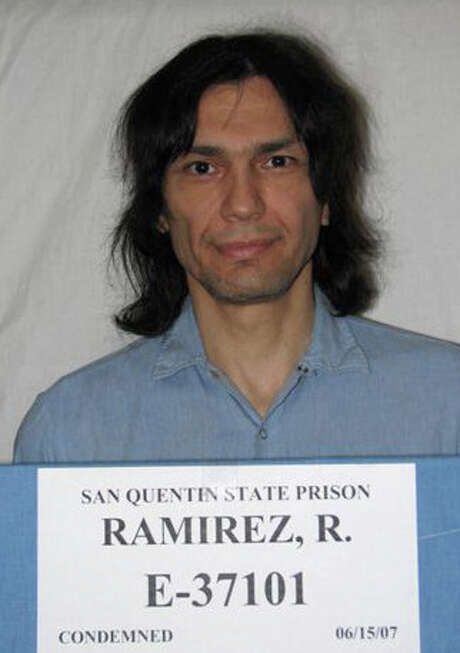 """In this photo provided by the California Department of Corrections and Rehabilitation, inmate Richard Ramirez is seen in 2007 in San Quentin, Calif. Richard Ramirez, the notorious serial killer known as the Night Stalker, died early Friday in a hospital, a state official said. Ramirez, 53, """"passed away this morning,"""" San Quentin State Prison spokesman Lt. Sam Robinson told The Associated Press. No other details were released. The Department of Corrections and Rehabilitation said Ramirez died of """"natural causes."""" He had been housed on death row for decades and was awaiting execution, even though it has been years since anyone has been put to death in California. Ramirez had been taken from death row to Marin General Hospital.  (AP Photo, California Department of Corrections and Rehabilitation) Photo: HO, HOPD / California Department of Correct"""