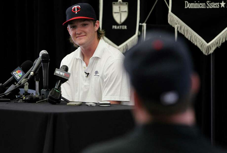 Kohl Stewart made it clear Friday at St. Pius X High School that professional baseball is in his plans this summer, not prepping for Texas A&M. Photo: Mayra Beltran, Staff / © 2013 Houston Chronicle