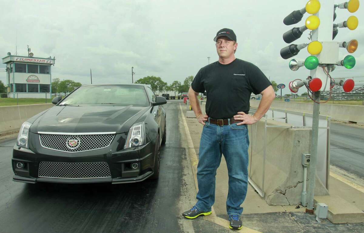 John Hennessey of Hennessey Performance has been working on this Cadillac CTS-V. Hennessey takes fast cars and makes them go faster. His company also makes its own vehicle, the Venom GT, clocked at 265.7 mph.
