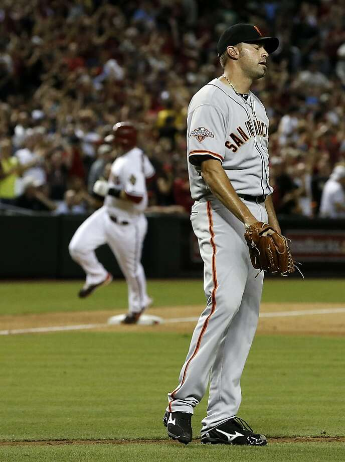 Jeremy Affeldt gave up a three-run home run that cost the Giants the game - and he took full responsibility. Photo: Ross D. Franklin, Associated Press
