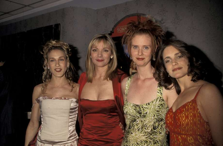 Sarah Jessica Parker, Kim Cattrall, Cynthia Nixon and  Kirstin Davis  in 1998. Photo: Ron Galella, Ltd., WireImage