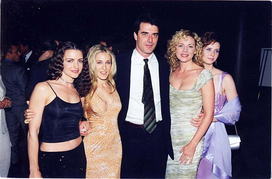 Kristin Davis, Sarah Jessica Parker, Chris Noth, Kim Cattrall and Cynthia Nixon at a party for 'Sex and the City' in 1999 at the Skybar in Los Angeles. Photo: Jeff Kravitz, FilmMagic
