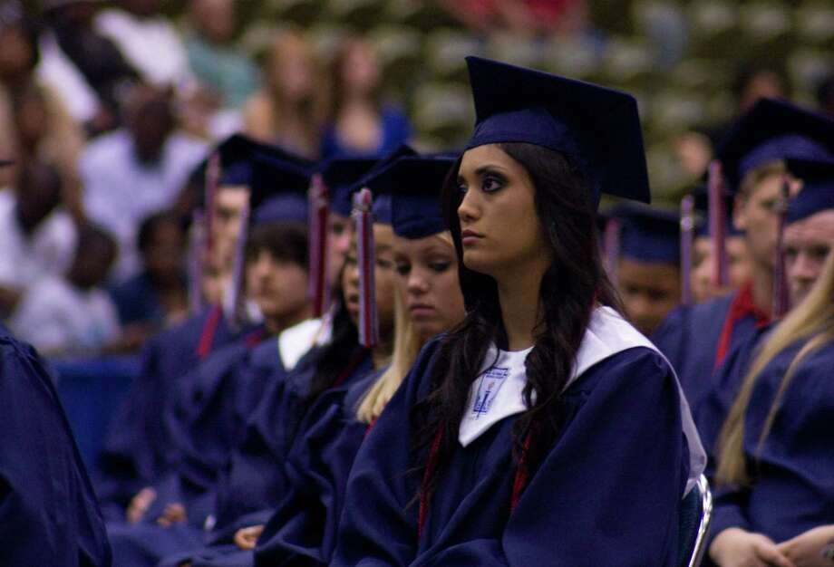 Graduates at the Hardin-Jefferson High School graduation ceremony June 6, 2013. Photo: Tim Monzingo
