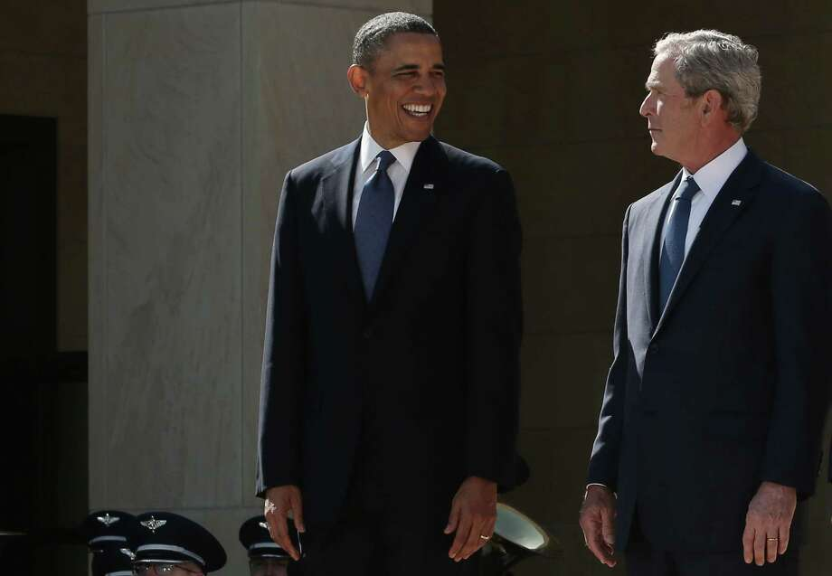 President Barack Obama  has found himself continuing many of the terror-fighting policies put in place by his predecessor, George W. Bush, and is now under fire for widespread domestic surveillance. Photo: Alex Wong, Staff / 2013 Getty Images