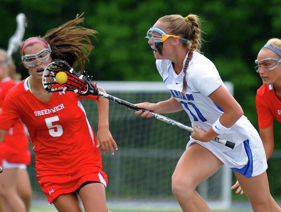 Class L lacrosse finals action between Greenwich and Darien in Stratford, Conn. on Saturday June 8, 2013. Photo: Christian Abraham / Connecticut Post