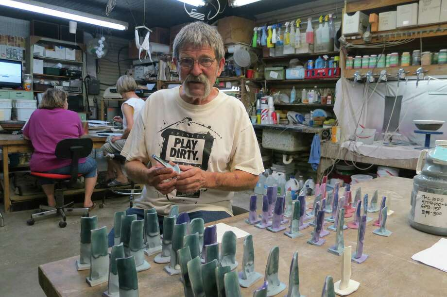 Roger Allen bought the property that became the Chicken Farm in 1991. He says despite administrative distractions, he'll always be making pottery. Photo: Joe Holley, Staff / Houston Chronicle