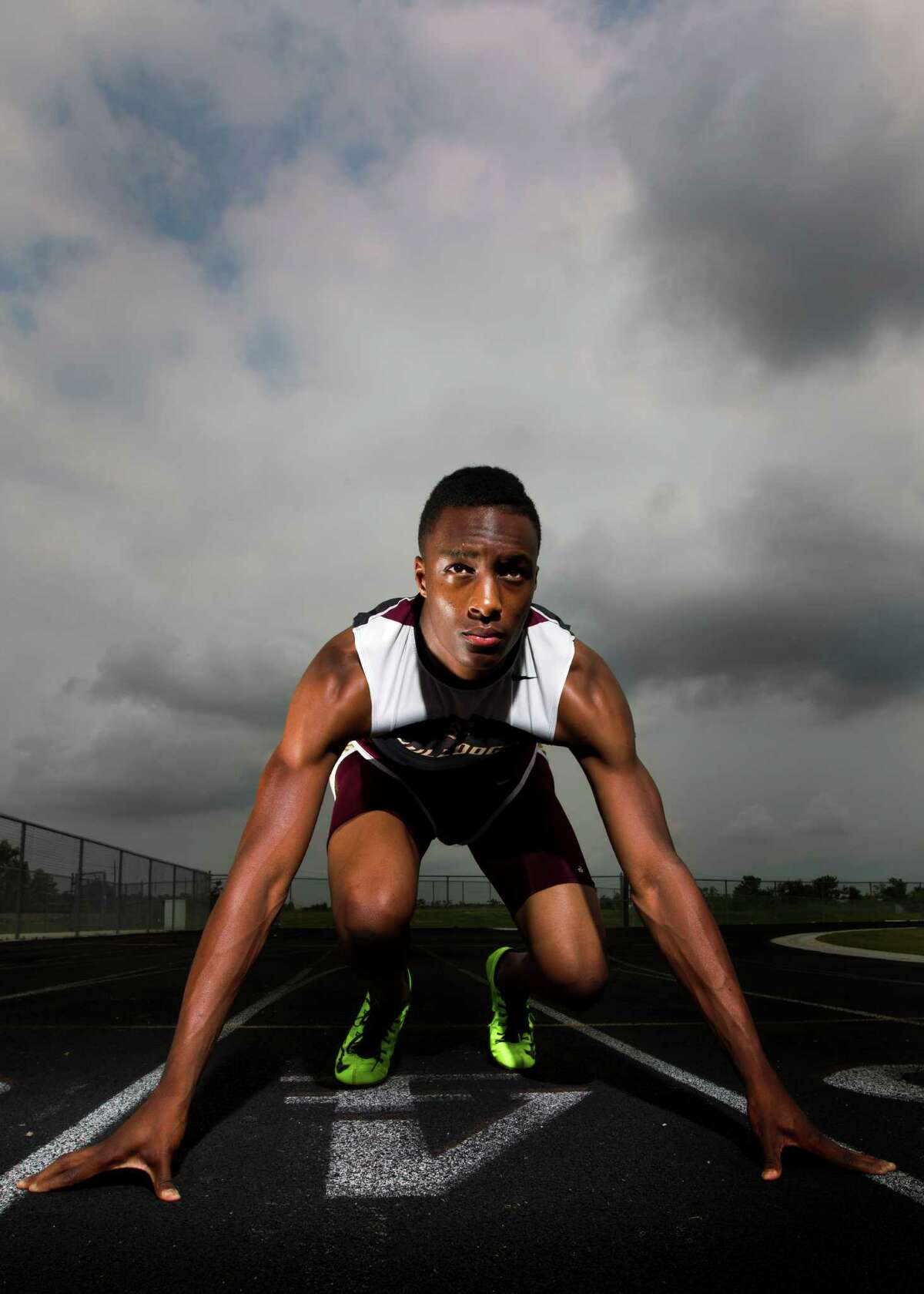 Summer Creek's Aaron Sharp capped a strong track season by winning three gold medals at the 4A state meet and helping the Bulldogs claim the team title.