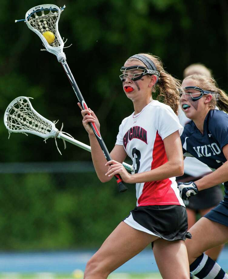 New Canaan high school against Wilton high school in the CIAC division M girls lacrosse championship game played at Bunnell high school, Stratford, CT on Saturday June 8th, 2013. Photo: Mark Conrad / Stamford Advocate Freelance
