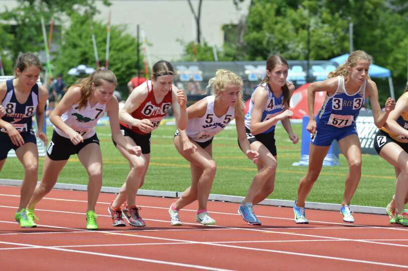 Saratoga Springs senior Keelin Hollowood (5) had a time of 6 minutes, 49.51 seconds in the Federatio