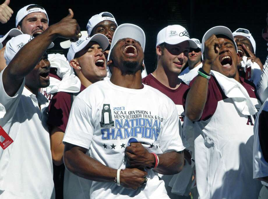 Though they tied with Florida, the A&M men's track and field team still had reason to celebrate their title.
