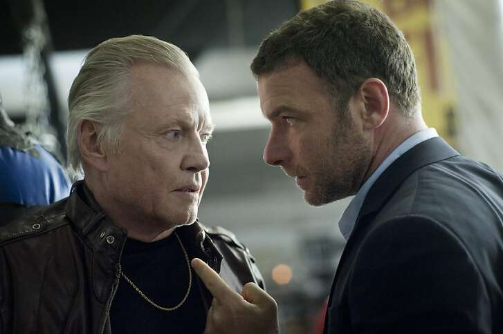 Jon Voight as Mickey Donovan and Liev Schreiber as Ray Donovan in Showtime's Ray Donovan.