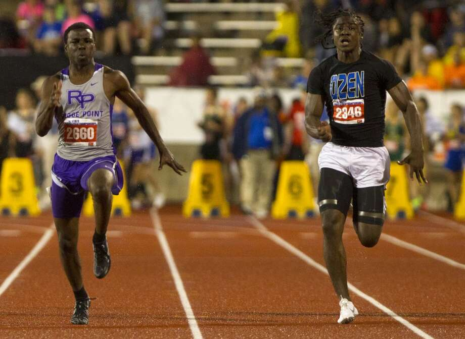 Boys sprintingCameron Burrell, Sr., Ridge PointNot pictured: Eli Hall-Thompson, Sr., Morton Ranch