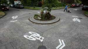 ''Traffic circle''   If you're driving around one of these things in Seattle, it's never a ''roundabout.''