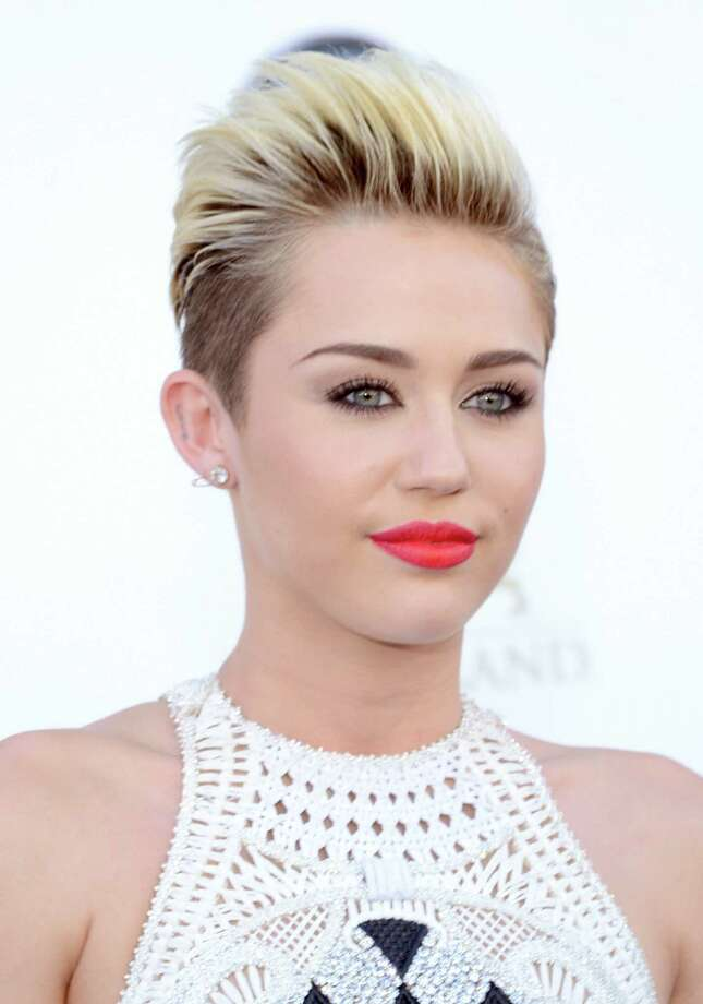 But recently Miley she flipped her hair 180 degrees from long and brunette to short and platinum.