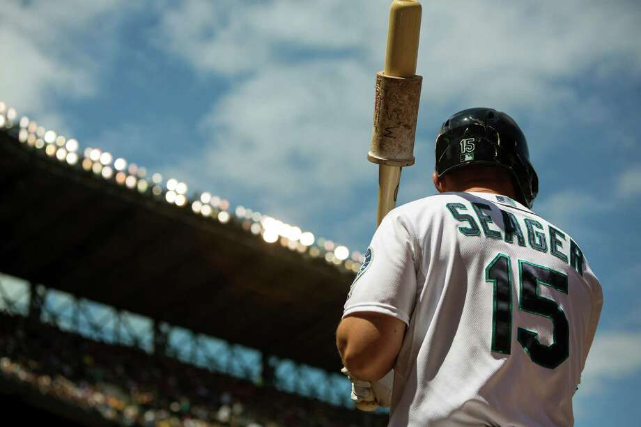 Kyle Seager warms up on deck with a couple of swings during a game against the New York Yankees Sunday, June 9, 2013, at Safeco Field in Seattle. Nearly 44,000 people attended the sunny day game, and the New York Yankees beat the Mariners 2-1. Photo: JORDAN STEAD, SEATTLEPI.COM / SEATTLEPI.COM