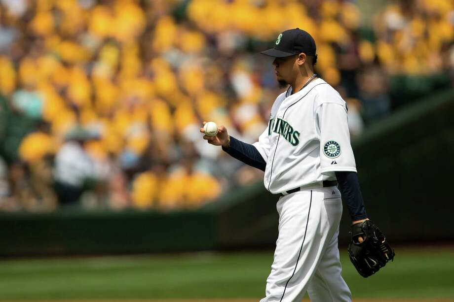Mariners pitcher Felix Hernandez walks to the mound at the beginning of the first inning of a game against the New York Yankees Sunday, June 9, 2013, at Safeco Field in Seattle. Nearly 44,000 people attended the sunny day game, and the New York Yankees beat the Mariners 2-1. Photo: JORDAN STEAD, SEATTLEPI.COM / SEATTLEPI.COM