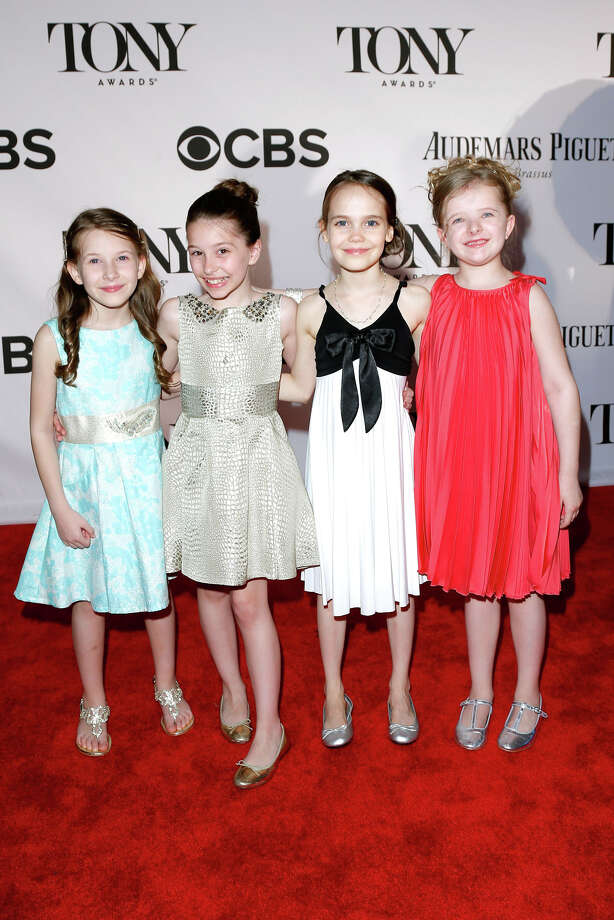 NEW YORK, NY - JUNE 09:  Sophia Gennusa, Bailey Ryon, Oona Laurence and Milly Shapiro of 'Matilda the Musical' attend The 67th Annual Tony Awards at Radio City Music Hall on June 9, 2013 in New York City.  (Photo by Jemal Countess/WireImage for Tony Awards Productions) Photo: Jemal Countess, WireImage For Tony Awards Produc / Getty Images