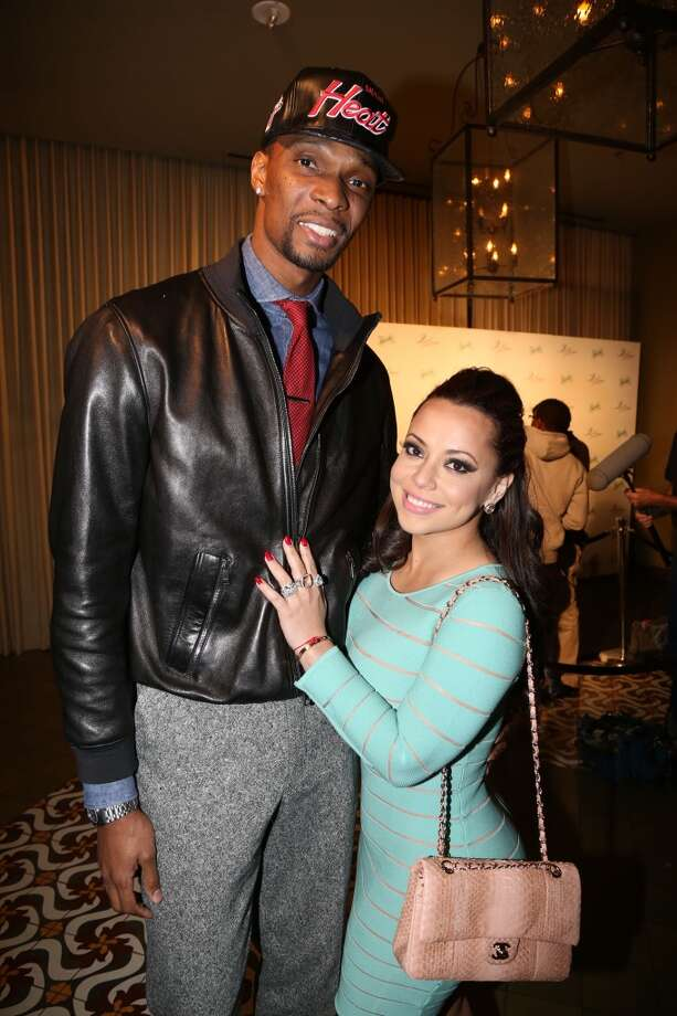 Chris Bosh and Adrienne Bosh attend The Two Kings Dinner presented by Sprite at RDG + Bar Annie on February 16, 2013 in Houston, Texas.  (Photo by Johnny Nunez/WireImage)