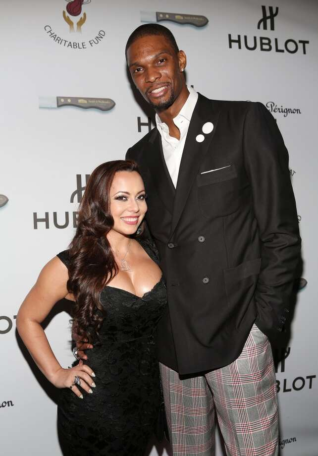 "Adrienne Bosh and Chris Bosh attend the Miami HEAT Family Foundation night of ""Motown Revue"" on February 27, 2013 in Miami, Florida. (Photo by Alexander Tamargo/Getty Images)"