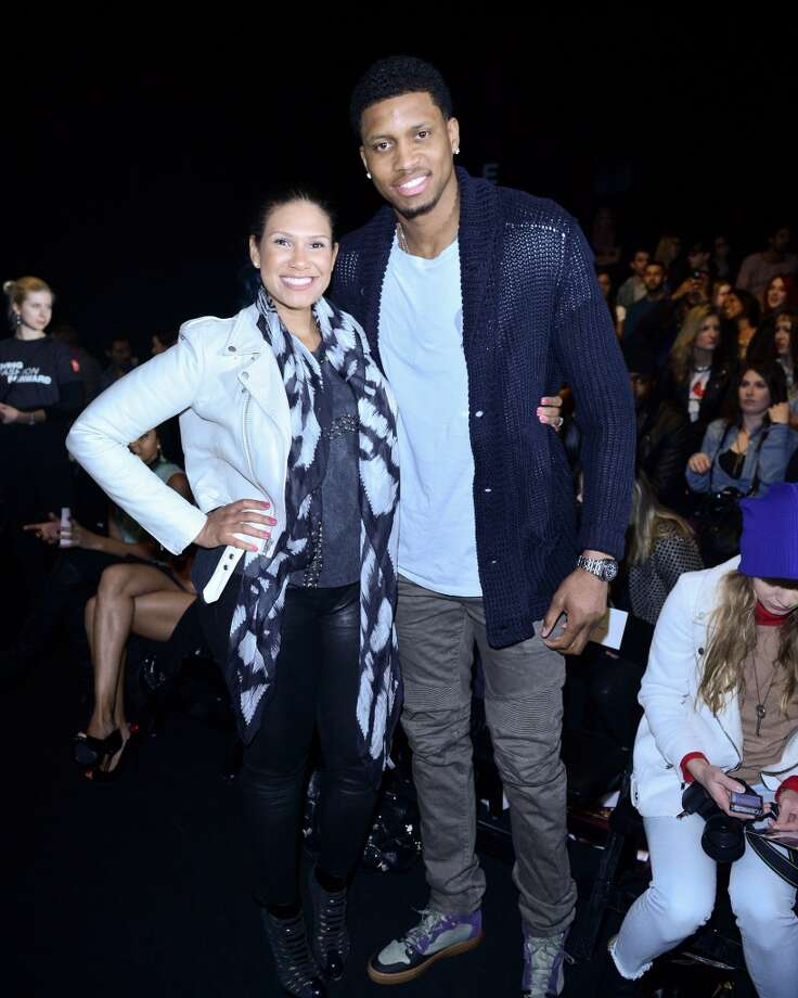 Rudy Gay (R) and Ecko Wray attend World MasterCard Fashion Week Fall 2013 at David Pecaut Square on March 21, 2013 in Toronto, Canada.  (Photo by George Pimentel/Getty Images for IMG)