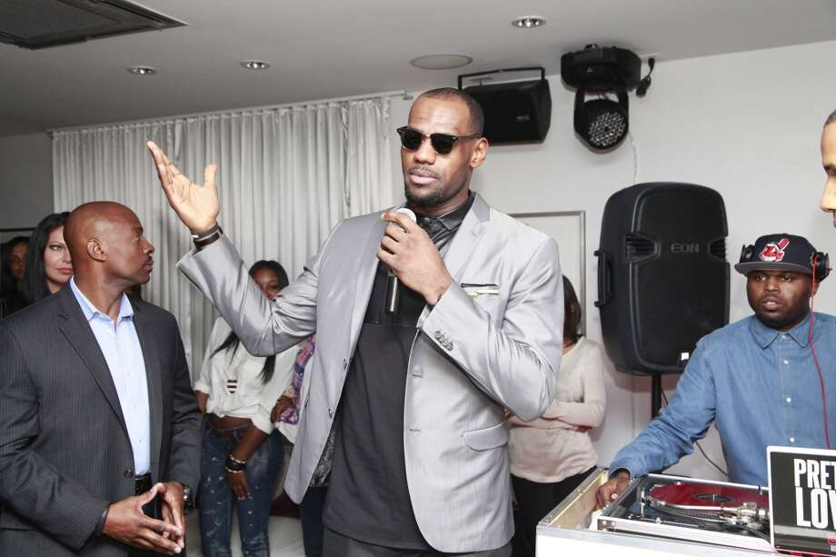 """Lebron James attends LeBron James, Believe Entertainment Group And Spring Hill Prods. All-Star Celebration To Kick Off Season Two Of """"The LeBrons""""  at Hudson Lounge on February 15, 2013 in Houston, Texas. (Photo by Danny Bollinger/WireImage)"""