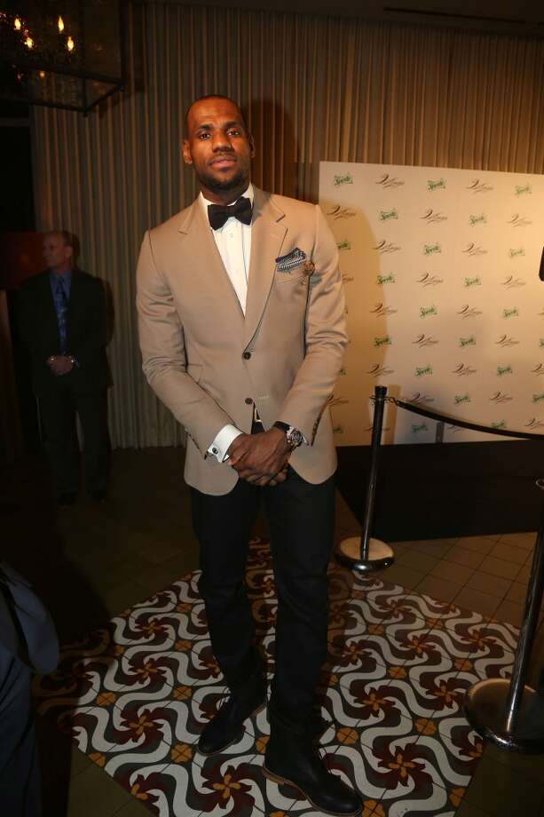 LeBron James attends The Two Kings Dinner presented by Sprite at RDG + Bar Annie on February 16, 2013 in Houston, Texas.  (Photo by Johnny Nunez/WireImage)