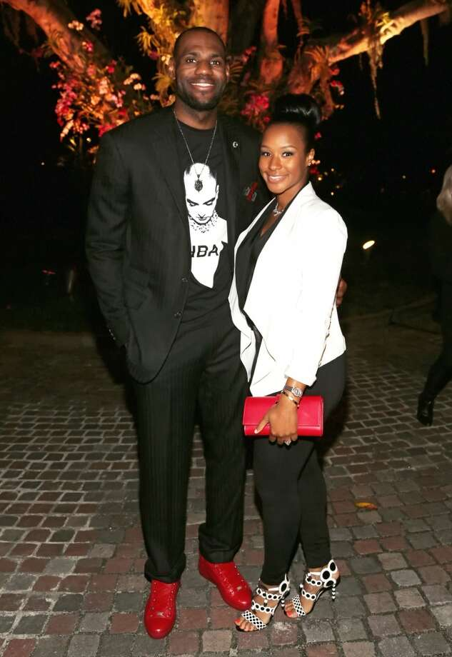 "LeBron James and Savannah Brinson attend the Miami HEAT Family Foundation night of ""Motown Revue"" on February 27, 2013 in Miami, Florida. (Photo by Alexander Tamargo/Getty Images)"