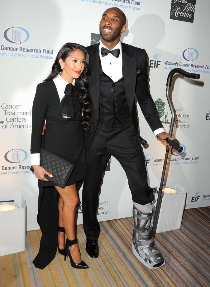 Kobe Bryant and Vanessa Bryant arrives at the An Unforgettable Evening Benefiting EIF's Women's Cancer Research Fund at Regent Beverly Wilshire Hotel on May 2, 2013 in Beverly Hills, California.  (Photo by Steve Granitz/WireImage)